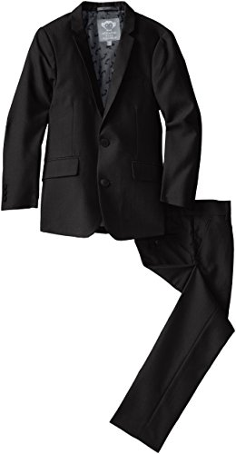 Appaman Big Boys' Two Piece Classic Mod Suit, Black, 14 -