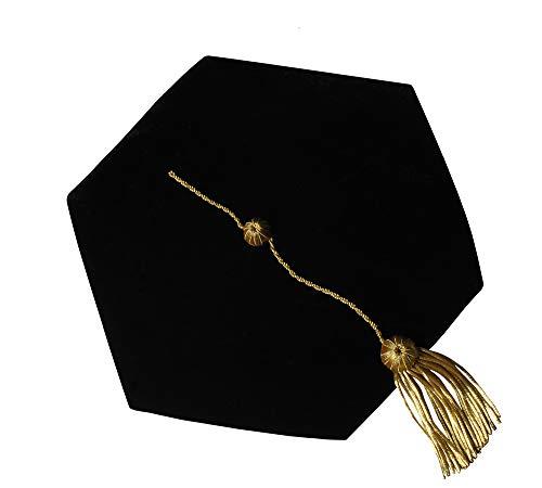 (GraduationForYou Doctoral Tam With Gold Bullion Tassel - 6 Sides)
