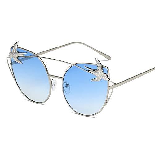 yeux grande mesdames soleil lunettes mode soleil créatives de métal boîte chat de C Lunettes NIFG 4xqfvXwnzf