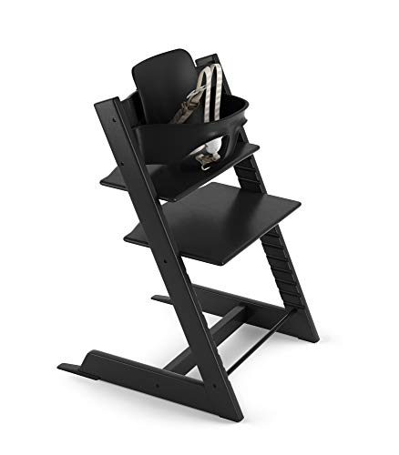 Stokke 2019 Tripp Trapp High Chair, Includes Baby Set, Black