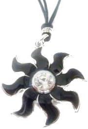 Collar con colgante de estrella-colgante de colour negro, piedras
