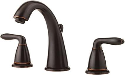 Pfister GT49SR0Y Serrano 2 Handle 8 Inch Widespread Bathroom Faucet In  Tuscan Bronze
