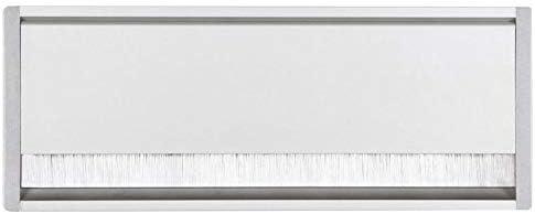 ASA Mat/ériau : Aluminium Encastrement : 252 x 112 mm Epaisseur : 20 mm Passe cable exit mono Longueur : 266 mm Largeur : 123 mm D/écor : Anodis/é//argent/é