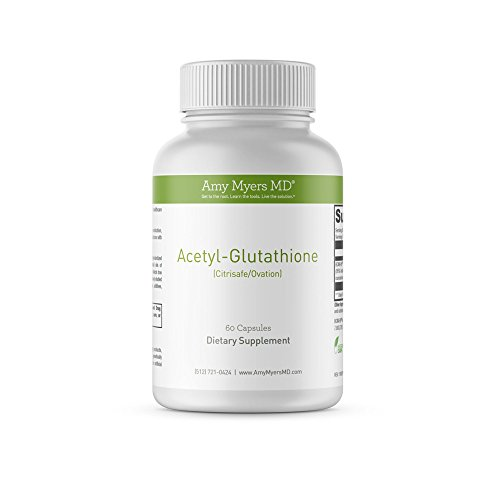 Dr. Amy Myers Acetyl Glutathione 300 mg – Absolute Best Highly Potent Antioxidant Detox Supplement – Immune System and Inflammation Support – Effective Anti-Aging Vitamin – 120 Capsules per Bottle by Amy Myers, MD