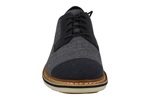 TIMBERLAND A19YZ blu jeans scarpe uomo derby liscia lacci Blu