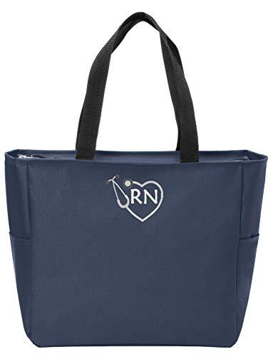 RN Nurse Tote Bag | Gift for Nurse (Navy) ()
