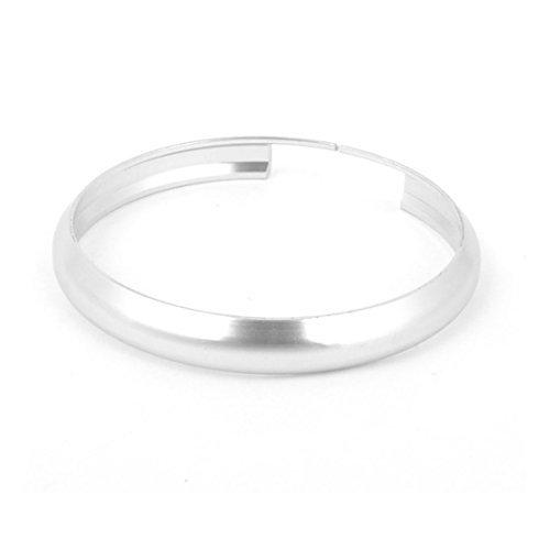 (Silver Tone Metal Audio Sound Ring Dekorasyon Circle Cover 45mm Dia)