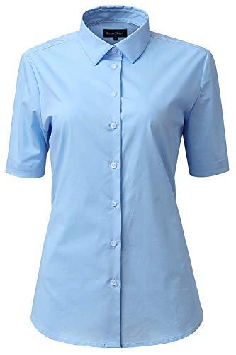 light blue button blouse - 4