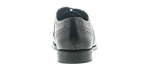Base London Hombre Cierre de Encaje Zapato de Vestir Zapato Oxford Detalle con La Marca Ideal Para La Oficina, Ocasiones Especiales o Una Noche EN La Ciudad - Negro - GB