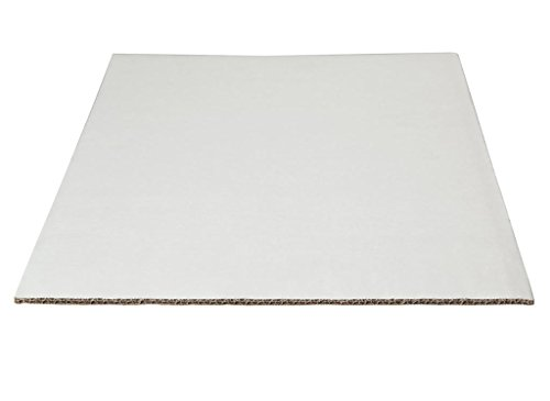 (W PACKAGING WP4325 1/4 Sheet (13.5x9) White/Kraft Double Wall Cake Pad, Non Grease Proof, Corrugated Paper Board (Pack of)
