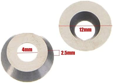 Wood Carving Tools for Wood Turning Tool,10pcs 12mm 30 Degree Round Carbide Inserts Milling Cutter for Wood Processing