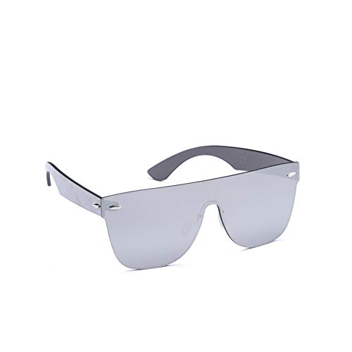 (2020Ventiventi Fashion Silver Frame/Silver Mirrored Lens Rectangular 62mm Frameless All Glasses Oversized Sunglasses)
