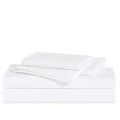 Brooklinen Luxe Core Sheet Set - Includes 1 Flat Sheet, 1 Fitted Sheet + 2 Pillowcases - 480 Thread Count Sateen Sheet Set - 100 Percent Long-Staple Cotton - Oeko-TEX Certified - White - Cali King