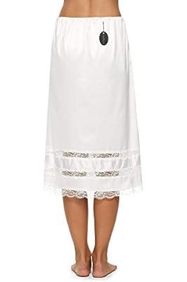 Avidlove Women Lingerie Slips Satin Snip-it Half Slip Lace Underskirt