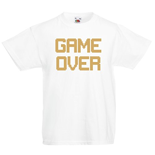 Funny t shirts for kids GAME OVER! Vintage t shirts funny gamer gifts gamer shirt (3-4 years White Gold)](10 Dollars Itunes Gift Card)
