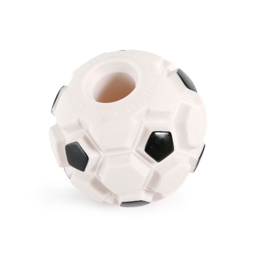 Omega Paw Products Fitness First Tricky Treat Soccer Ball – Large, 4.25 Inch, My Pet Supplies