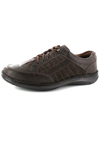 Josef Seibel - Zapatos de cordones de cuero nobuck para hombre marrón marrón