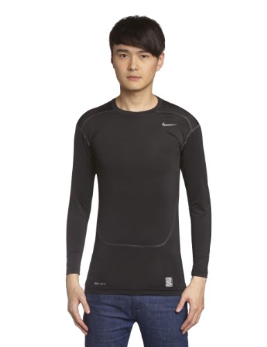 Nike Mens Core 2.0 Compression Long Sleeve LS Top Black/Cool Grey 449794-011 Size X-Large