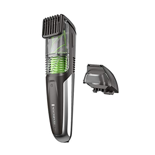 Remington MB6850 Vacuum Stubble and Beard Trimmer, Lithium Power and Adjustable Length Comb w/ 11 Length Settings (2-18mm) (Best Vacuum Beard Trimmer)