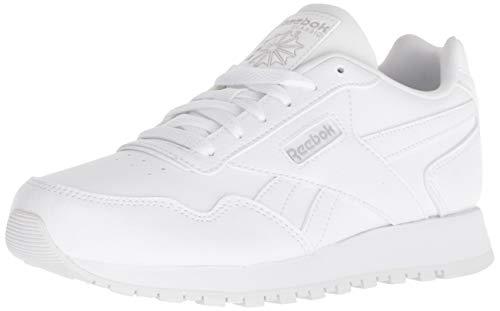 Reebok Kid's Classic Harman Run Shoe  4 M US, Little Kid, white/steel