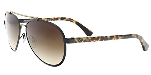 Emporio Armani EA 2024 Men's Sunglasses Matte Black/Pale Gold 58 Armani Gold Sunglasses