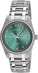 Sartego Men's SSGN13 Classic Analog Green Face Dial Stainless Steel Swarovski Bezel Watch