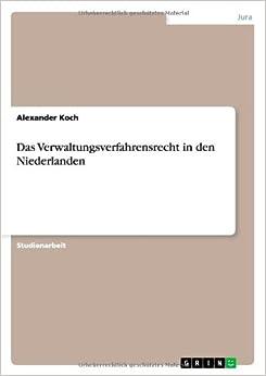 Book Das Verwaltungsverfahrensrecht in den Niederlanden