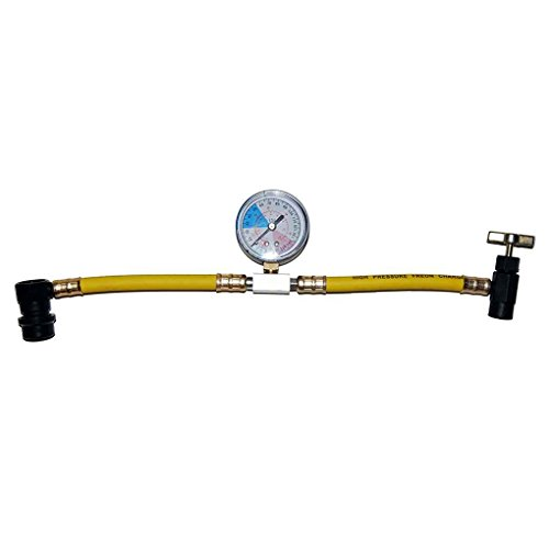 R134a Recharge Measuring Hose Can Tap Gauge Adapter A/C Refrigerant Charge Pipe