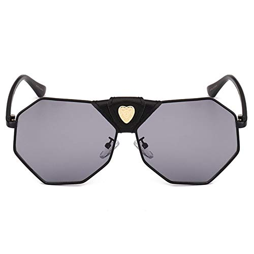 en lunettes mode soleil de Personnalité irrégulière de soleil amour NIFG boucle B lunettes de cuir 04qwUaE