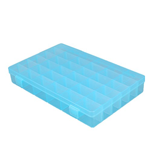 Plastic Jewelry Box Organizer Storage Container With Adjustable Dividers 36 Grids by Rekukos (Egyptian Halloween Costumes Homemade)