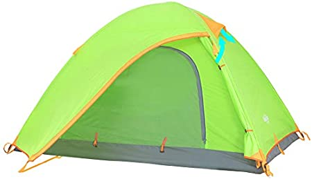 Ubon 2-3 Person Backpacking Tent Lightweight Waterproof Camping Tent Easy Setup Large Space Tent for Family Outdoors Hiking