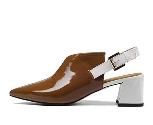 di Pelle Brown Ladies Misto Comodo Sandali Colore in Estate Colore Dimensioni 38 Strato Primo Tallone d0xXwIdq7