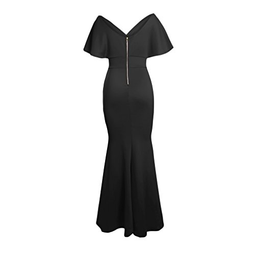 Dama negro Baoblaze Vestido Club Ropa Fiesta Noche Novia Mujeres Nocturna l Cena de Honor Maxi rxrtZwAO