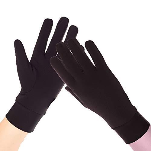 Compression Lightweight Sport Running Gloves Liner Gloves- Black - Men & Women