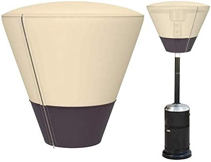 家具カバー ファニチャー パティオヒーターヘッドカバー防水600Dヘビーデューティ通気性のオックスフォード生地日雪のフロスト保護33.86 * 25.59inchのためにアップガーデン家具プロテクタースタンド(ベージュ+コーヒー) ガーデン 庭用保護カバー シャンボ14011 (Color : Beige+Coffee)