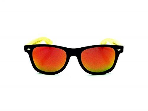 MIX madera NEGRA SOLID de BLACK Gafas sunglasses modelo MOSCA wood qZHXPnw5