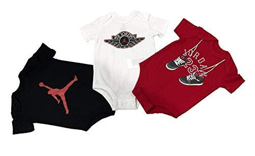Nike Jordan Infant New Born Baby Bodysuit 3 Pcs Layette Set (3/6)