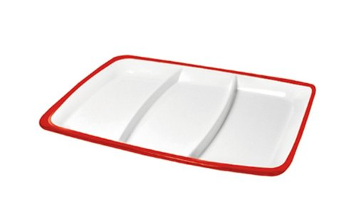 Omada M4540RR Red Ruby Square Hors D'Oeuvre Tray