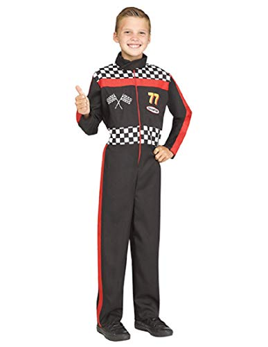 Fun World Race Car Driver Costume, Small 4-6, Multicolor
