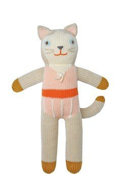 (Blabla Colette the Cat Mini Plush Doll - Knit Stuffed Animal For Kids. Cute, Cuddly & Soft Cotton Toy. Perfect, Forever Cherished. Eco-Friendly. Certified Safe & Non-Toxic.)