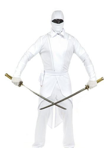 Storm Shadow Adult Costumes (GI Ninja Adult Costume White - X-Large)