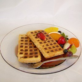 Realistic Food Replicas New Delicious Looking Faux Plate Waffles Fruits