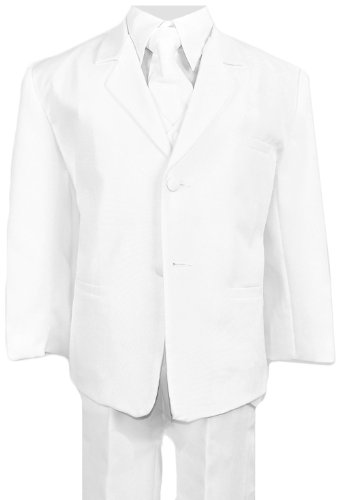 Boys Suits in White Complete Outfit Set Size (Kids In Suit)