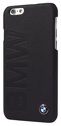 BMW Leder Hard Case für Apple iPhone 6/6S mit Logo Prägung schwarz
