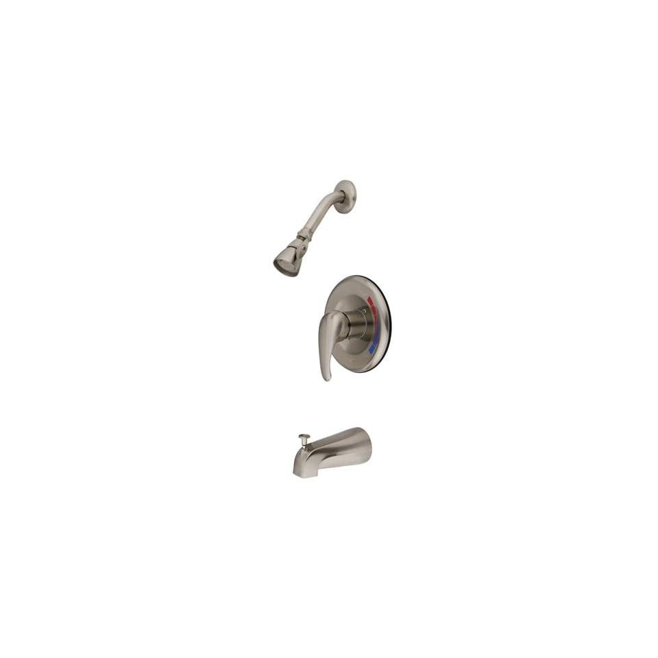 Elements of Design EB658T Chatham Trim Only for Single Handle Tub and Shower Faucet, Satin Nickel