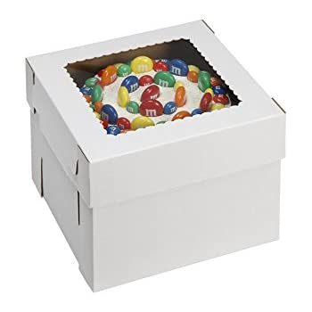 W PACKAGING WPCKB128 Cake Box with Window E-Flute 12  x 12  sc 1 st  Amazon.com & Amazon.com: W PACKAGING WPCKB108 Cake Box with Window E-Flute 10 ... Aboutintivar.Com