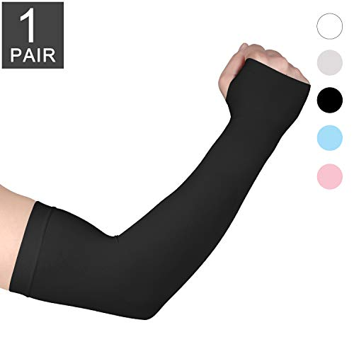 Fycert UV Protection Arm Sleeves for Men Women,Cooling Ice Sunblock Protective Sleeve,Arms Cover Compression Sun Protection Sleeves for Cycling Running Fishing Golf Driving Outdoor Sports