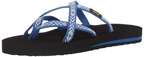 (Teva Women's W Olowahu Flip-Flop Himalaya Lapis Blue 11 Medium US)