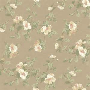 Green Leaf Scroll Wallpaper (York Wallcoverings PL4667 Hyde Park Southern Belle Floral Wallpaper, Cocoa/White/Coral/Mint Green)
