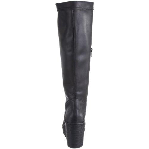 FLY London Cher Leather - Botas de cuero para mujer Negro